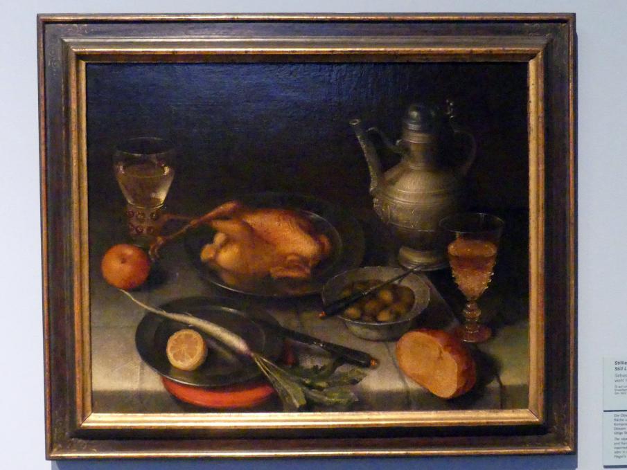 Sebastian Stoskopff: Stillleben mit Hähnchen, um 1620