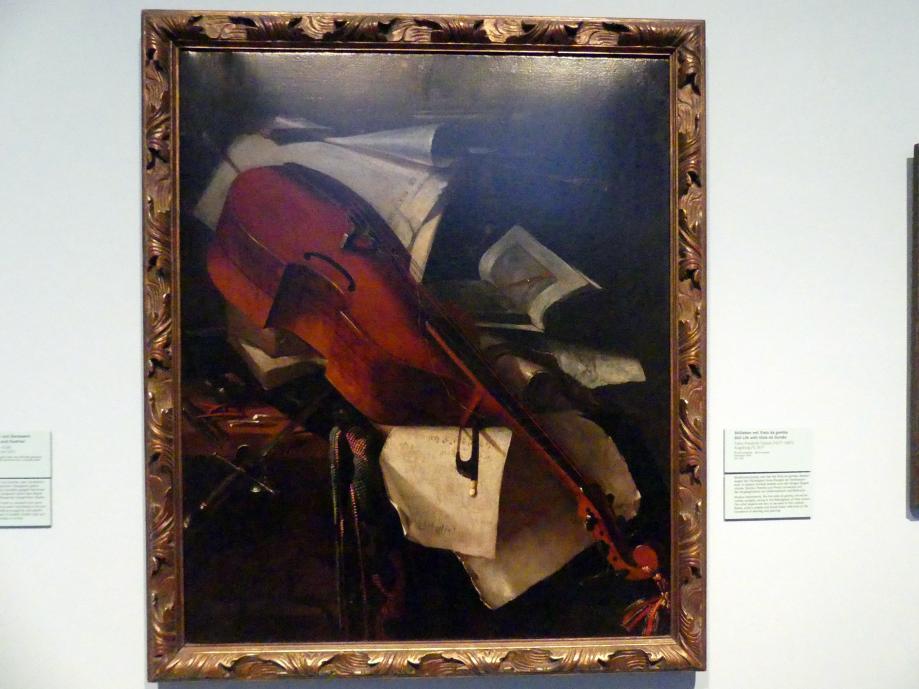 Franz Friedrich Franck: Stillleben mit Viola da gamba, 1671