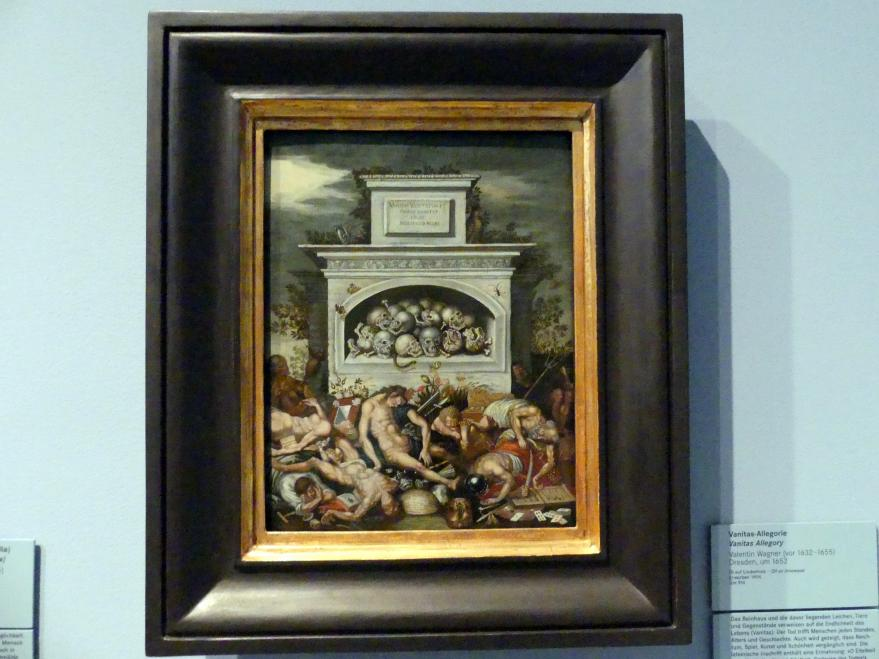 Valentin Wagner: Vanitas-Allegorie, Um 1652