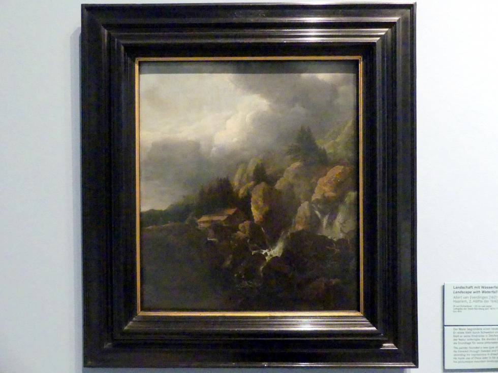 Allart van Everdingen: Landschaft mit Wasserfall, Um 1645 - 1650