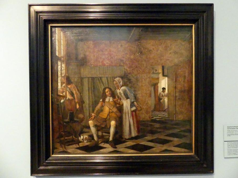 Pieter de Hooch: Gesellschaftsstück, um 1663 - 1665
