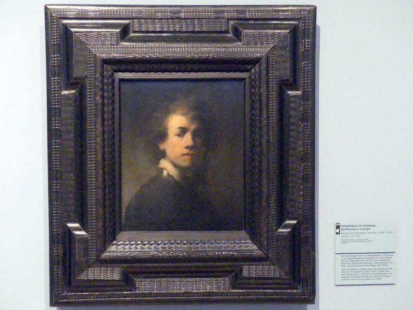 Rembrandt (Rembrandt Harmenszoon van Rijn): Selbstbildnis mit Halsberge, um 1629