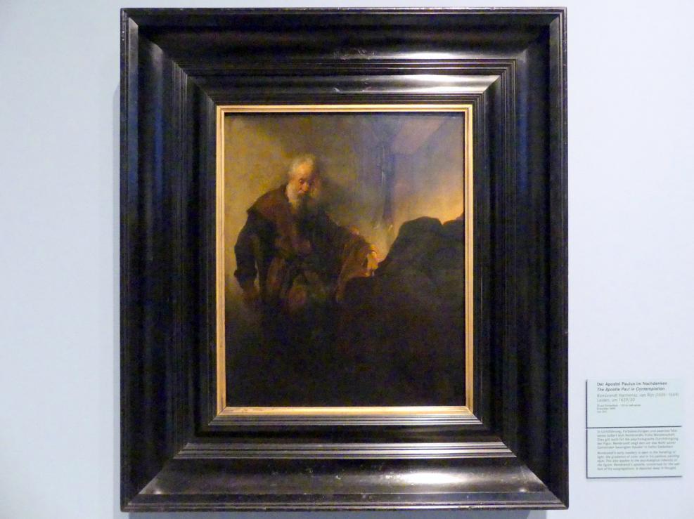Rembrandt (Rembrandt Harmenszoon van Rijn): Apostel Paulus am Schreibpult, Um 1629 - 1630