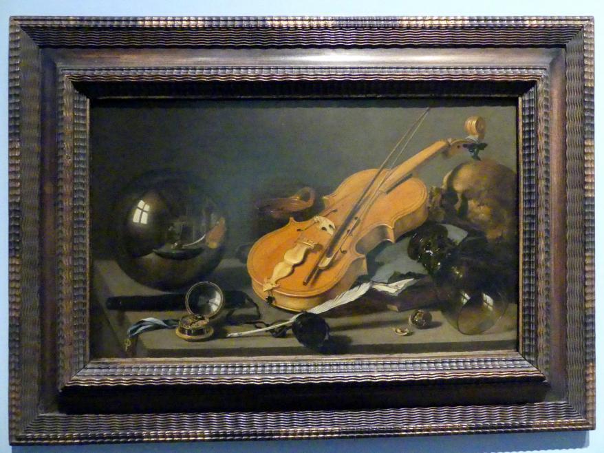 Pieter Claesz: Vanitas-Stillleben mit Selbstbildnis, Um 1628