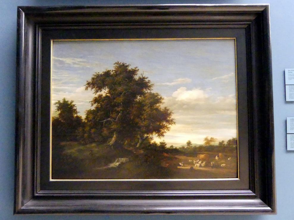 Jacob Salomonsz van Ruysdael: Landschaft mit Viehherde, Undatiert