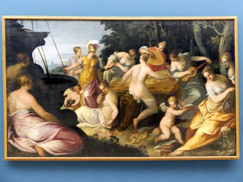 Johannes Rottenhammer der Ältere: Minerva bei den Musen auf dem Helikon, 1603
