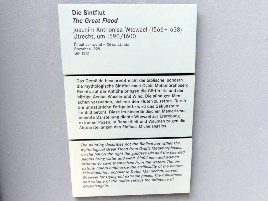 Joachim Anthonisz. Wtewael: Die Sintflut, um 1590 - 1600, Bild 2/2