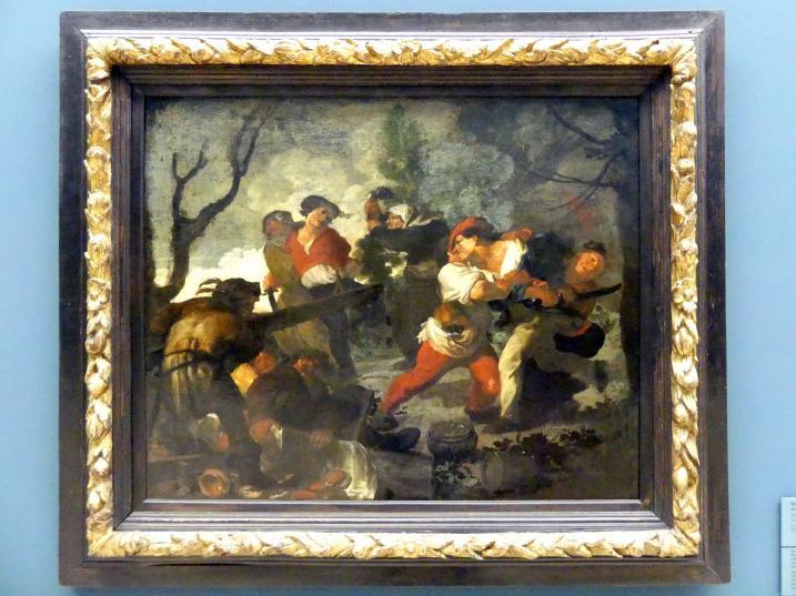 Johann Liss: Bauernstreit, Um 1616 - 1619