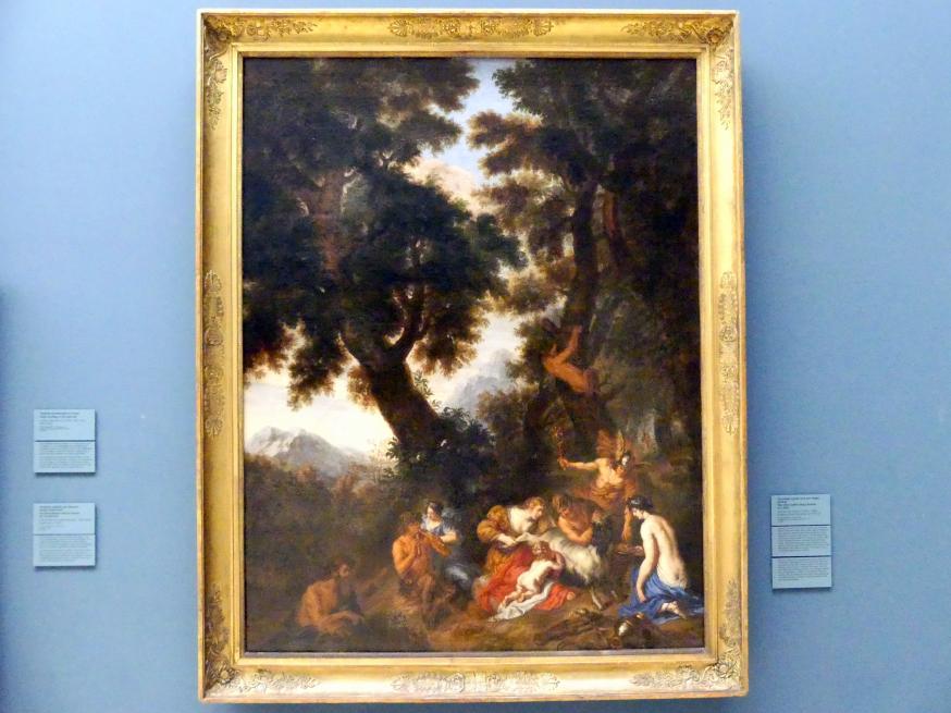 Joachim von Sandrart der Ältere: Der Knabe Jupiter wird von Ziegen gesäugt, um 1671 - 1678