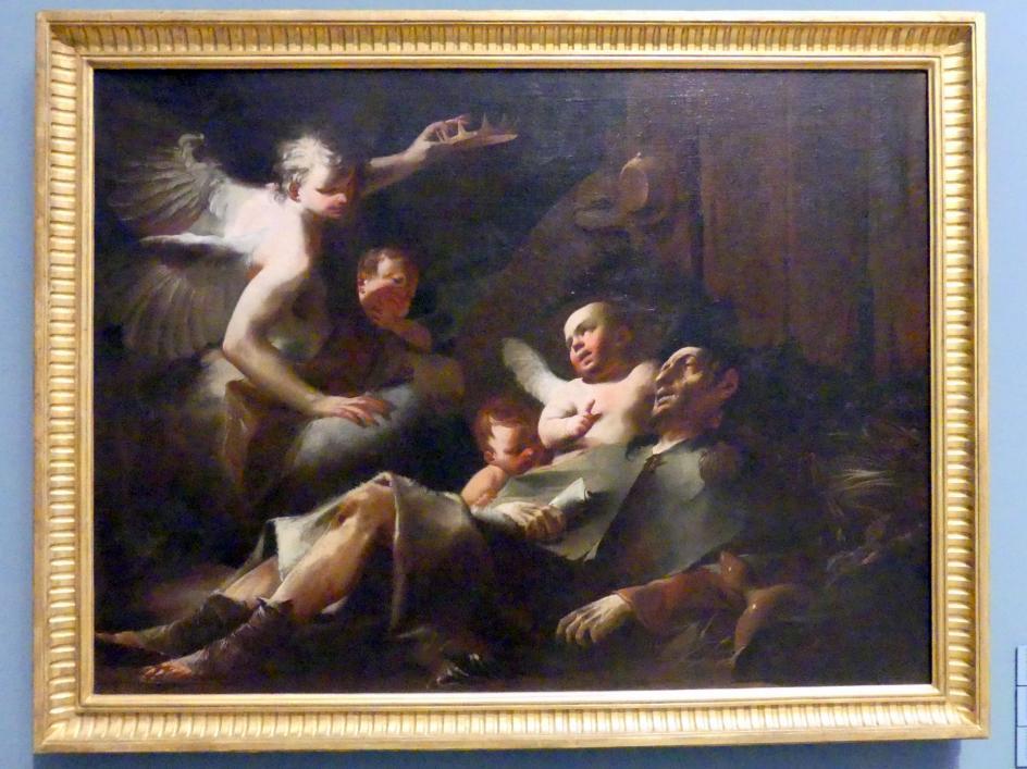 Paul Troger: Tod des Hl. Alexius unter der Treppe seines Vaterhauses, um 1726 - 1728