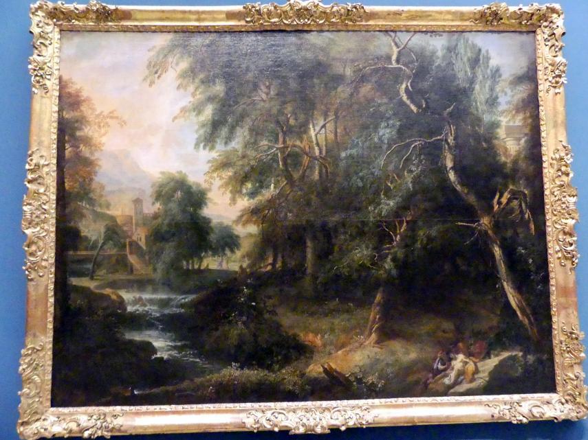 Anton Faistenberger: Landschaft mit dem Barmherzigen Samariter, um 1700