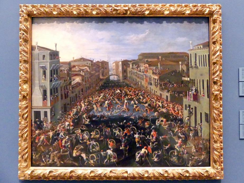 Joseph Heintz der Jüngere: Wettstreit auf der Ponte de' Pugni in Venedig, 1673
