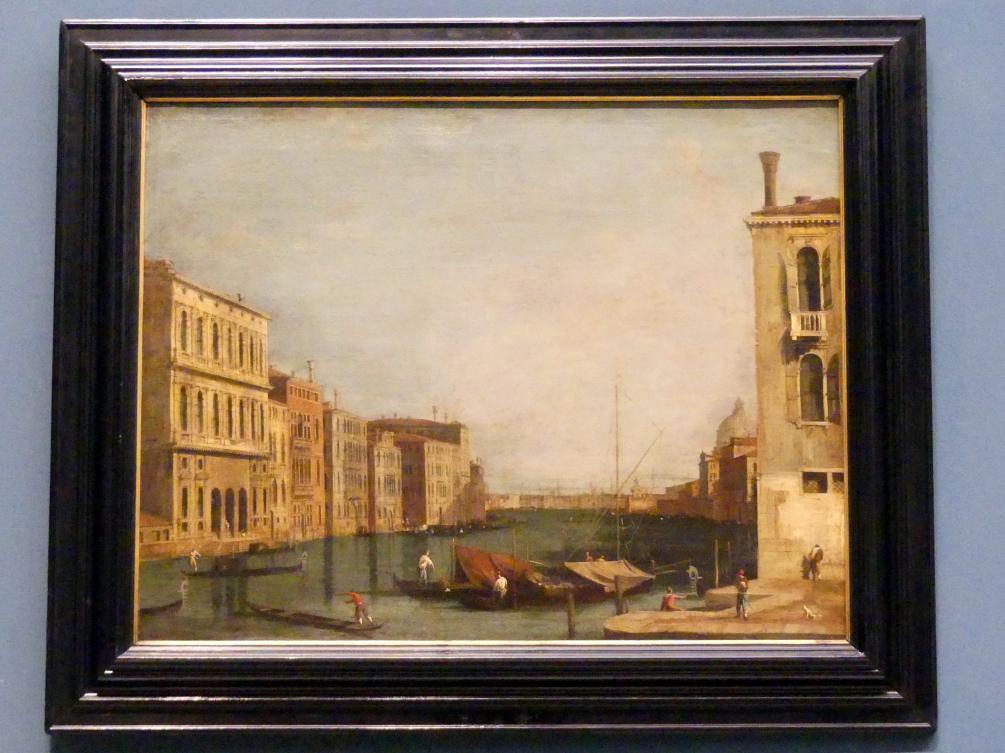"""Giovanni Antonio Canal (""""Canaletto""""): Canal Grande am Campo San Vio, 1740"""