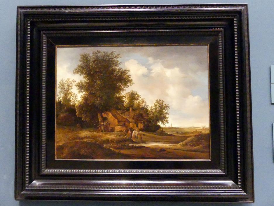 Jacob van Moscher: Landschaft mit Bauernhaus, Um 1635 - 1655