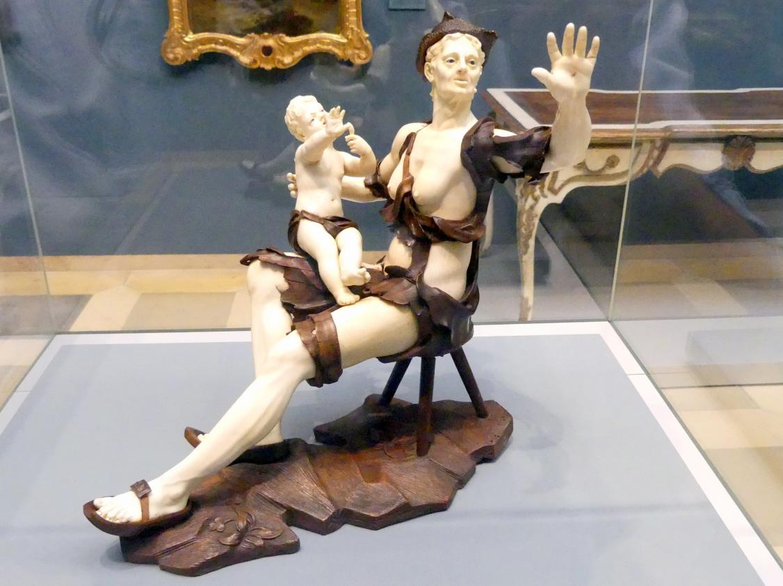 Simon Troger: Sitzende Bettlerin mit Kind, Um 1750