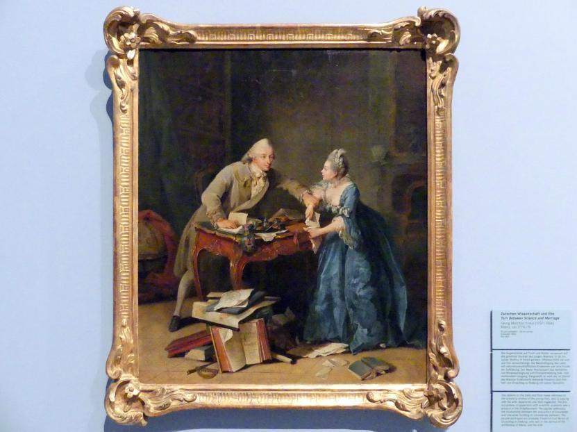 Georg Melchior Kraus: Zwischen Wissenschaft und Ehe, um 1770 - 1776