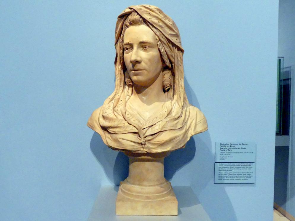 Johann Valentin Sonnenschein: Büste einer Dame aus der Berner Familie von Sinner, Um 1790