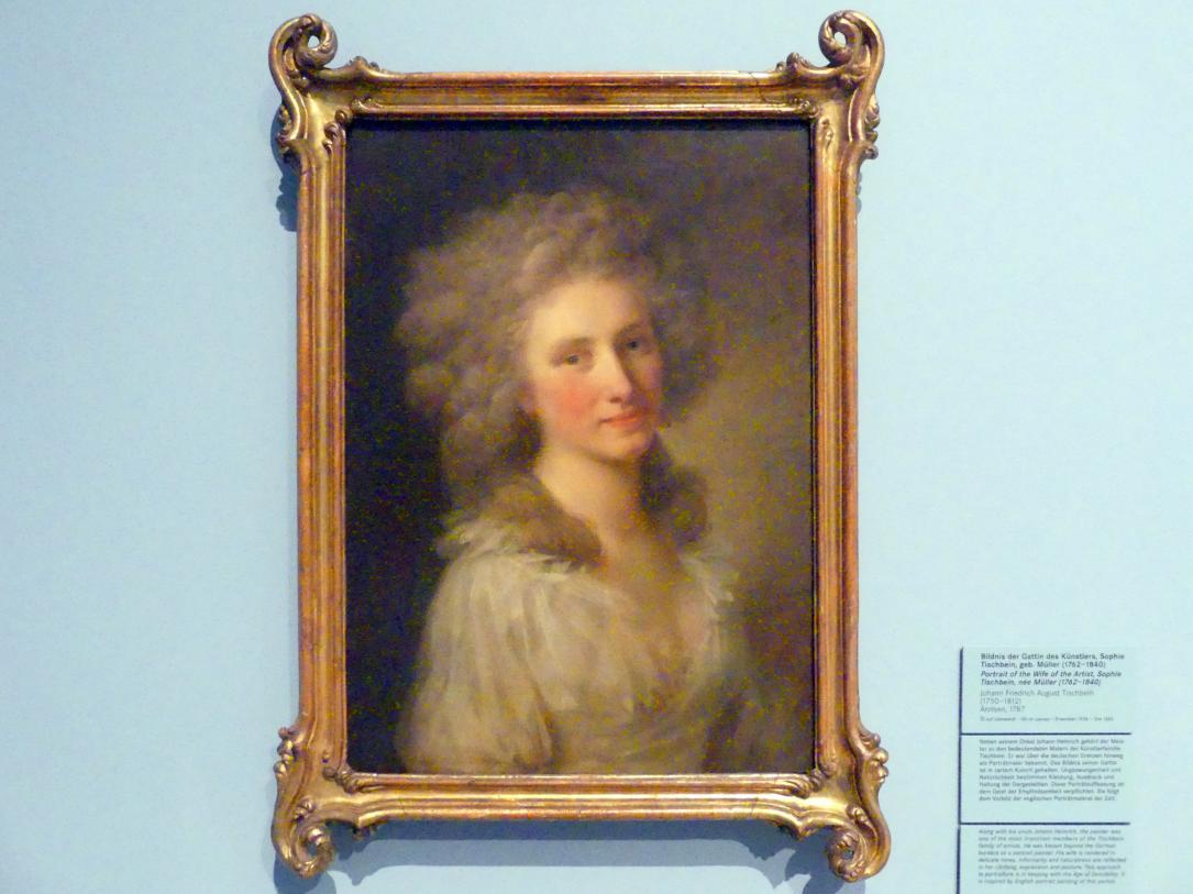 Johann Friedrich August Tischbein: Bildnis der Gattin des Künstlers, Sophie Tischbein, geb. Müller (1762-1840), 1787