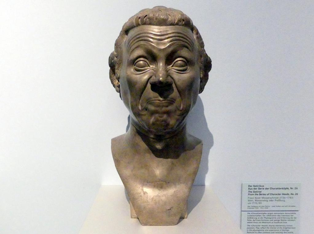 Franz Xaver Messerschmidt: Der Satirikus, aus der Serie der Charakterköpfe, Nr. 26, Um 1770 - 1780