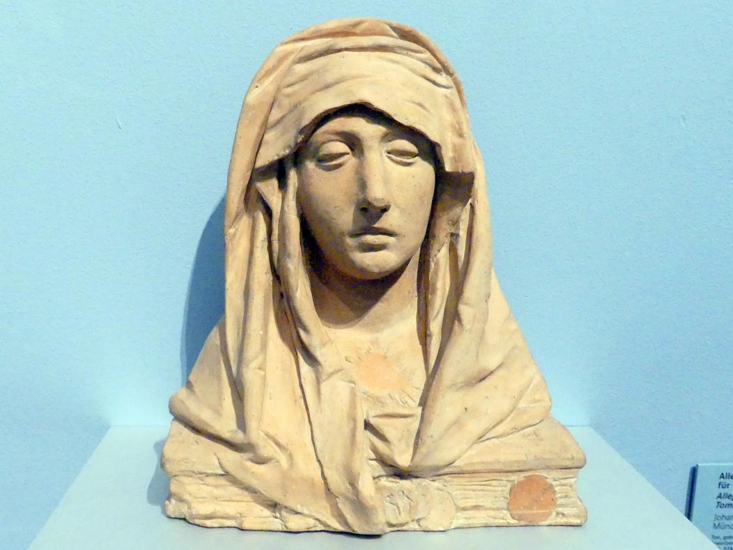 Johann Baptist Straub: Allegorie des Glaubens. Modellfigur für das Grabmal der Theresia Straub (gest. 1774), Um 1775