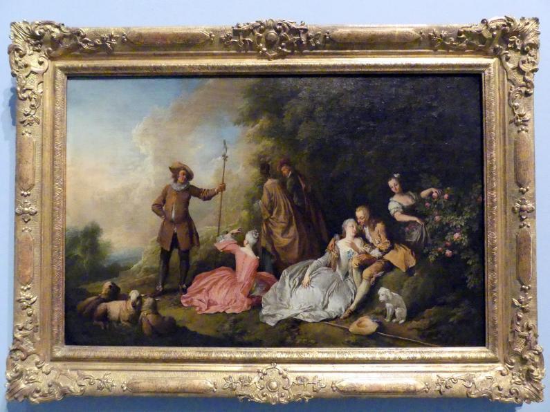 Christian Wilhelm Ernst Dietrich: Gesellschaft im Freien, 3. Viertel 18. Jhd.