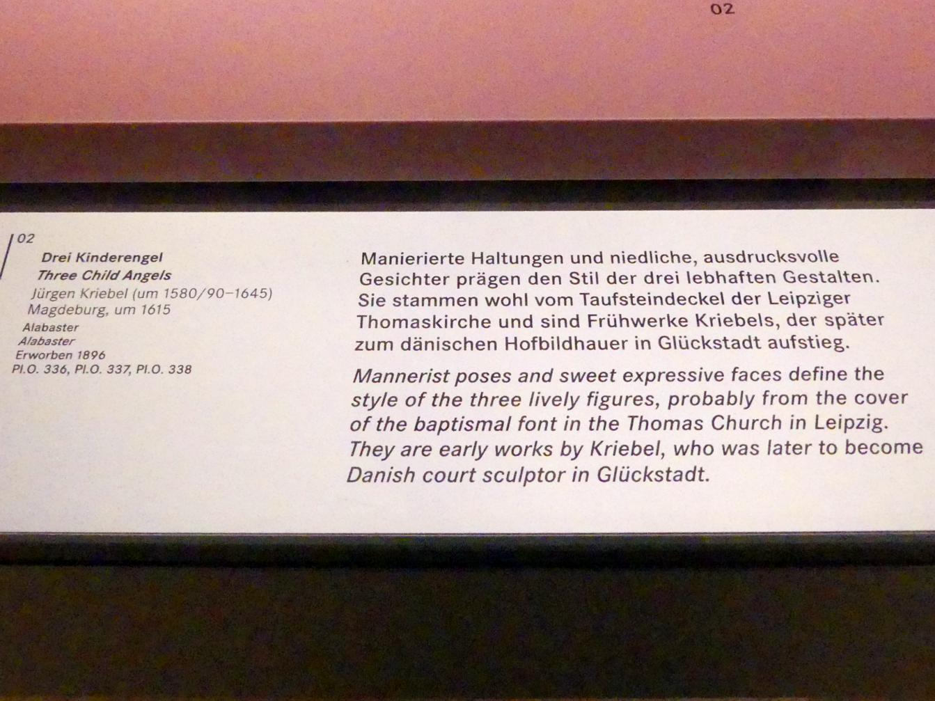 Jürgen Kriebel: Drei Kinderengel, Um 1615