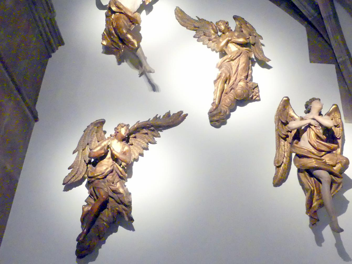Johann Peter Schwanthaler der Ältere: Zwei schwebende Engel, Um 1770
