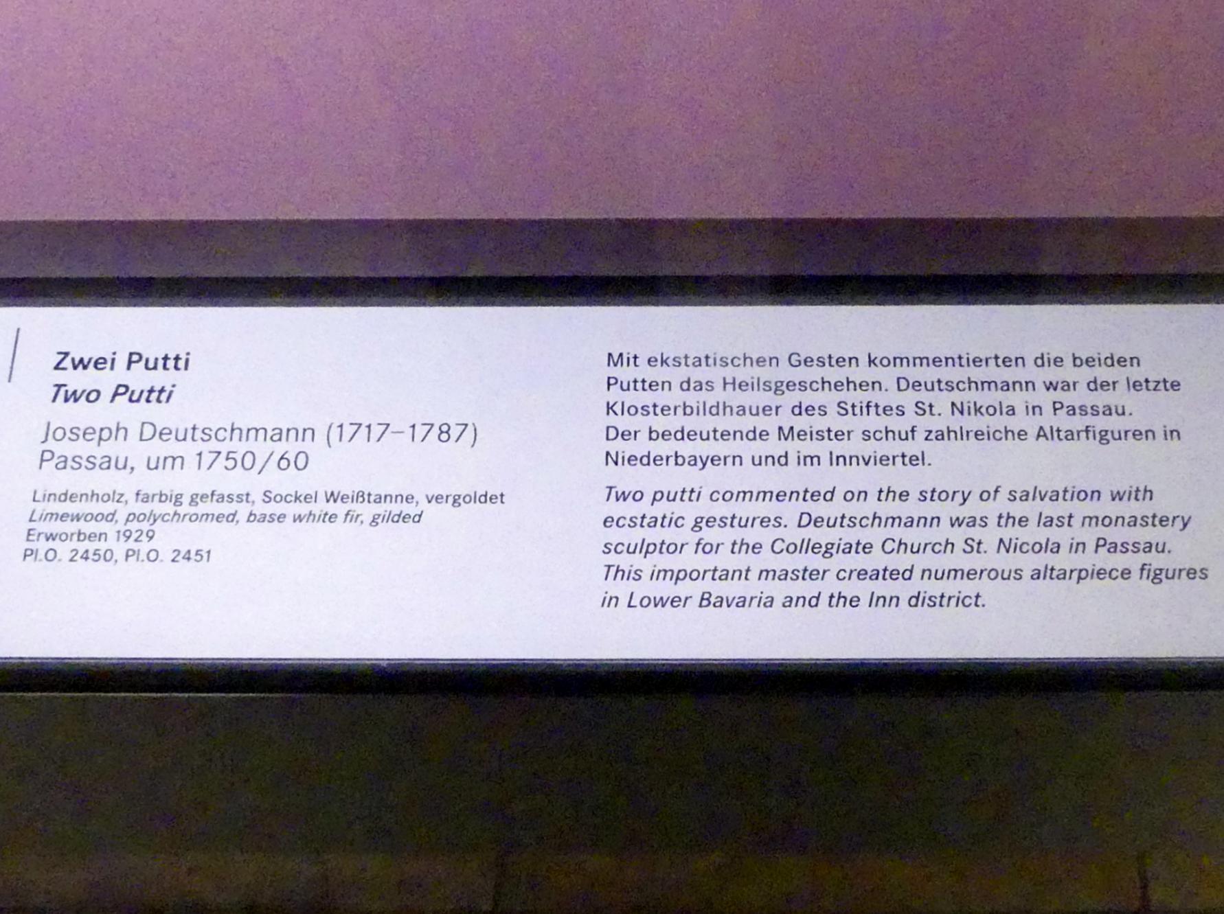 Joseph Deutschmann: Zwei Putti, um 1750 - 1760, Bild 2/2