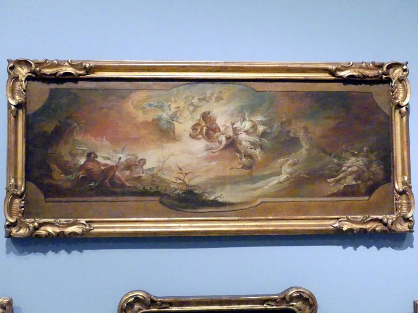 Johann Michael Franz: Sturz des Phaethon, Deckenentwurf, Um 1768