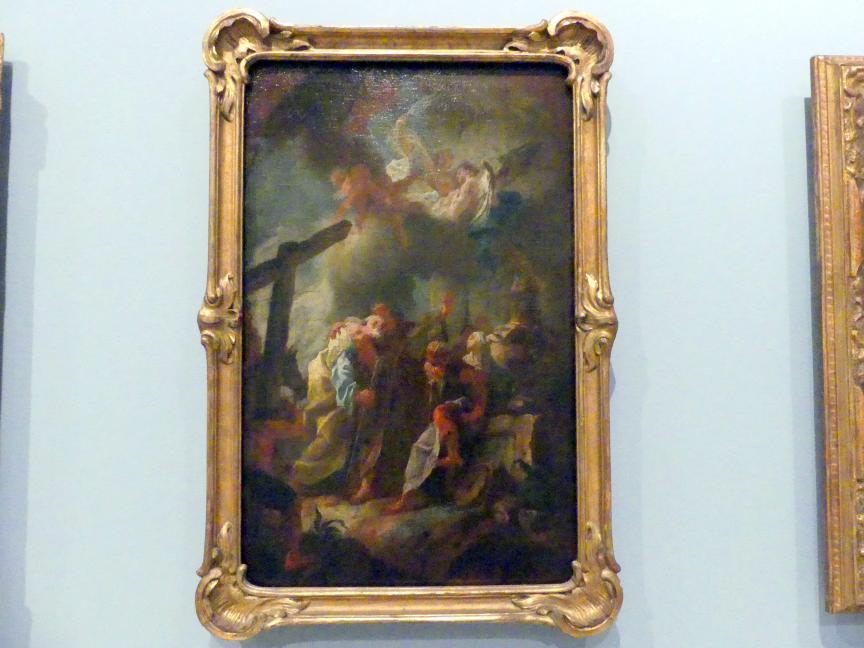 Josef Ignaz Mildorfer: Abschied der Apostel Petrus und Paulus, Altarbildentwurf, Um 1760