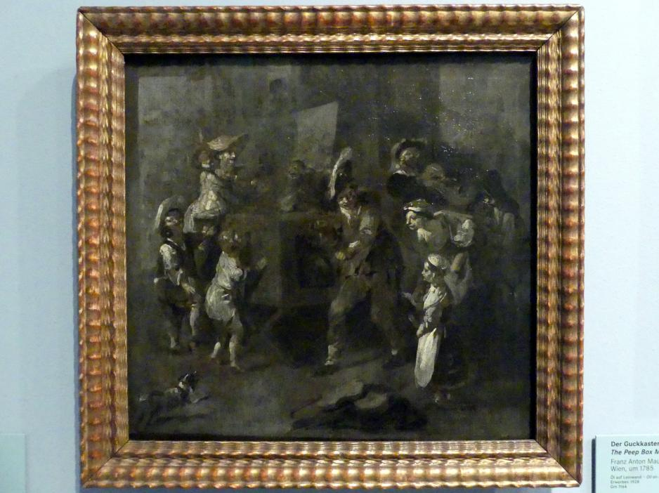 Franz Anton Maulbertsch: Der Guckkastenmann, Um 1785