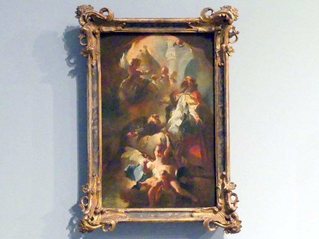 Franz Anton Maulbertsch: Verehrung des Gnadenbildes von Mariazell, Altarbildentwurf, Um 1754
