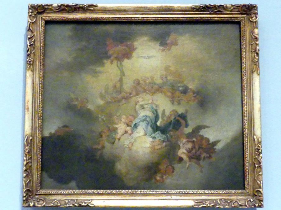 Januarius  Zick: Aufnahme Mariens in den Himmel, Deckenentwurf, 1778 - 1780