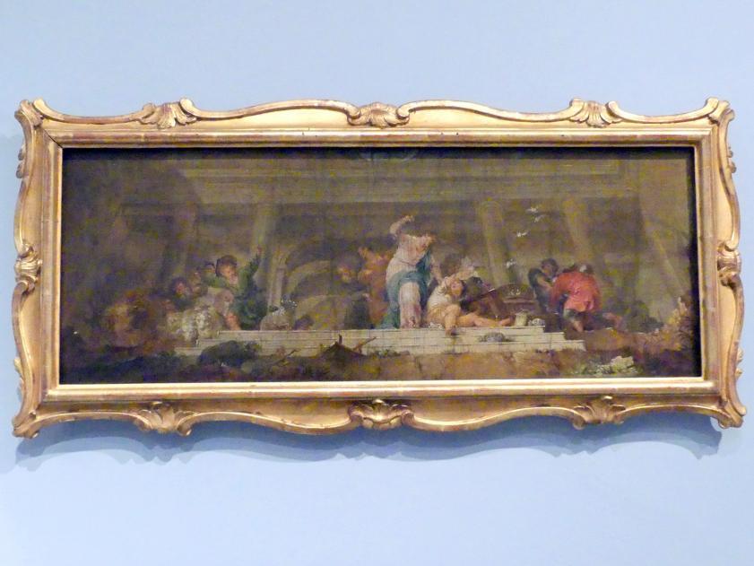 Januarius  Zick: Christus treibt die Wechsler aus dem Tempel, Deckenentwurf, 1784