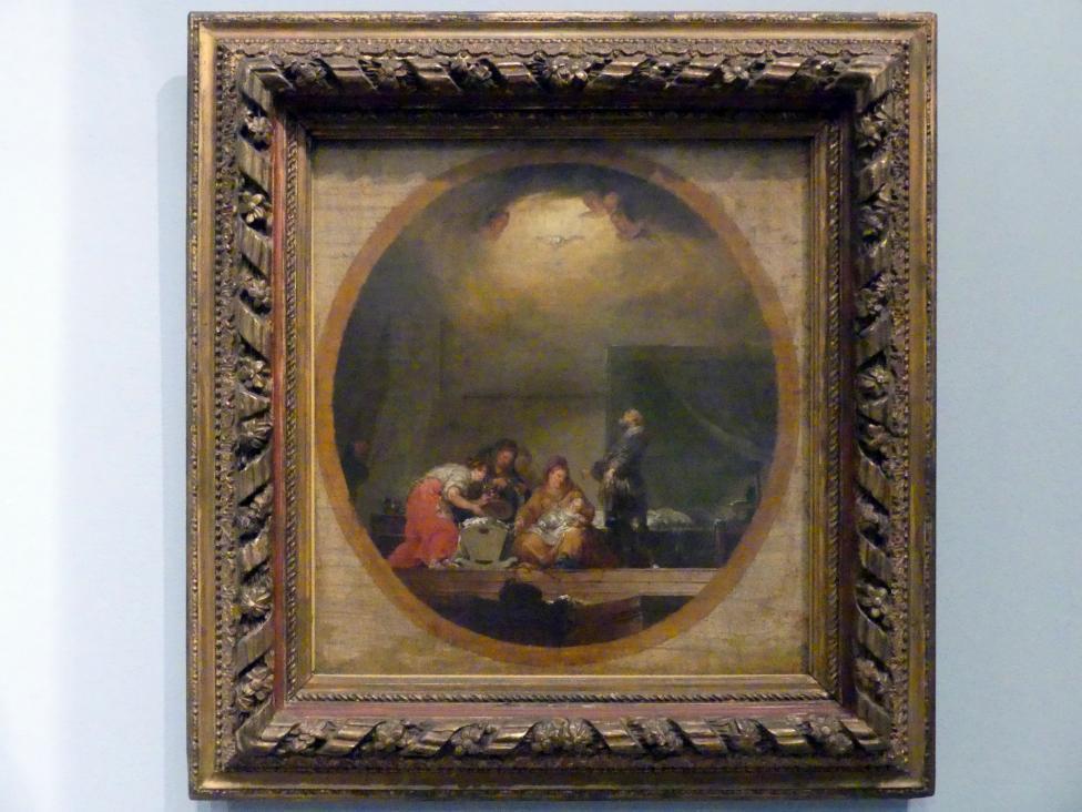 Januarius  Zick: Geburt Mariens, Deckenentwurf, 1782