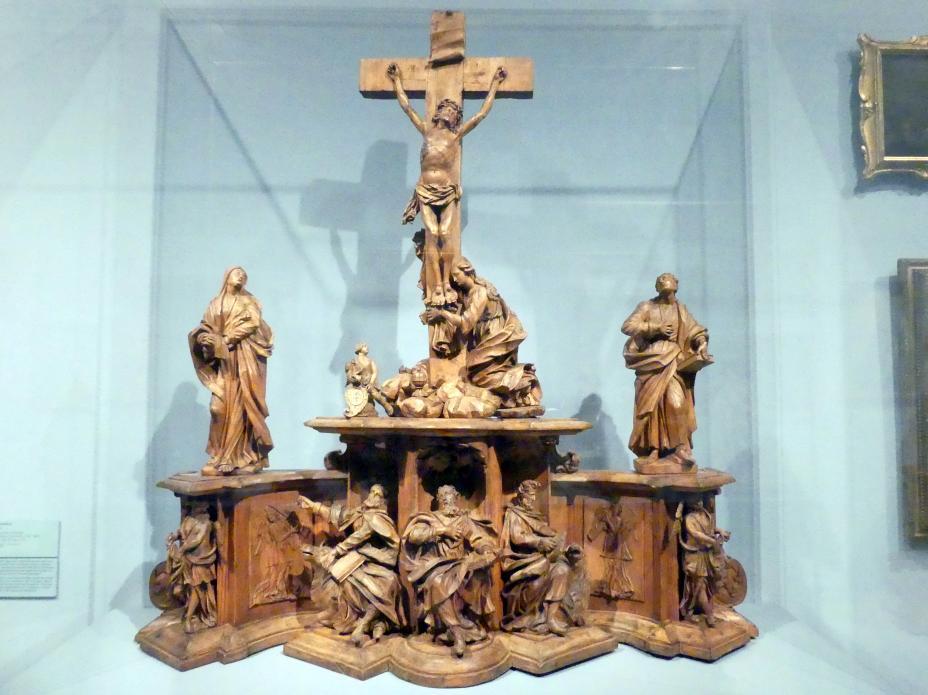 Johann Leonhard Gollwitzer: Kreuzigung Christi. Modell für die Sandsteingruppe auf der Oberen Brücke in Bamberg, um 1715