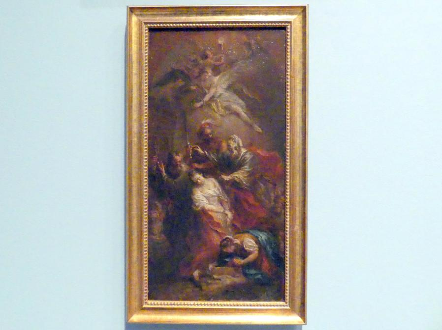 Martin Johann Schmidt (Kremser Schmidt) (Schüler): Die Marter der hl. Barbara, Nach 1782