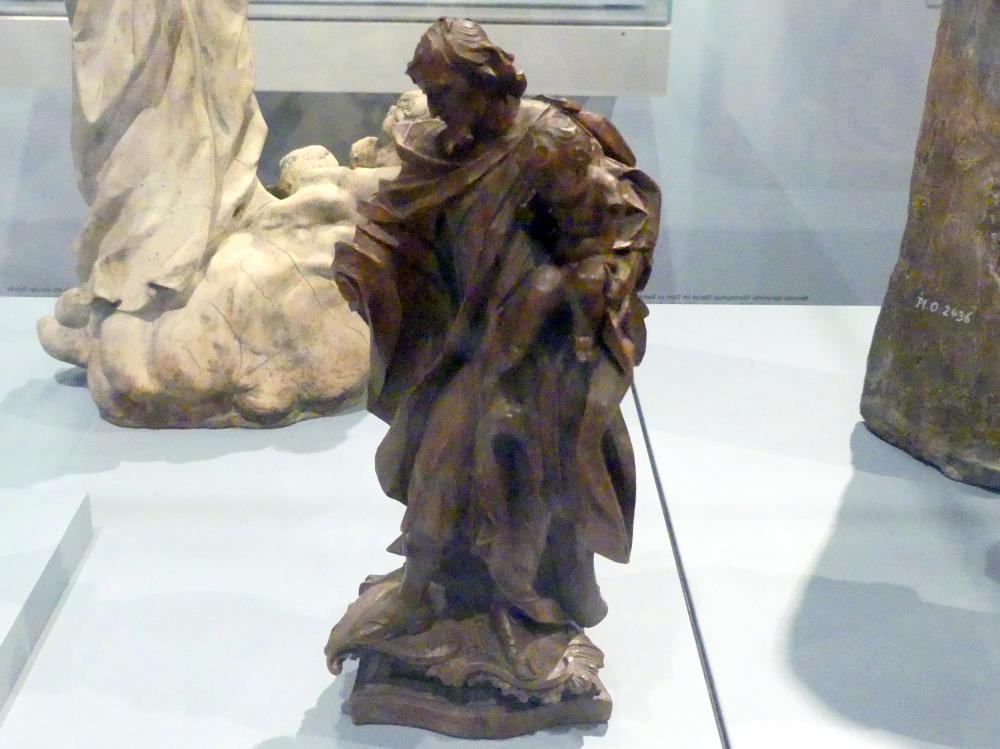 Johann Joseph Kessler: Hl. Joseph mit dem Jesuskind. Bozzetto für eine Prozessionsfigur aus der Karmeliterkirche Bad Neustadt/Saale, 1755