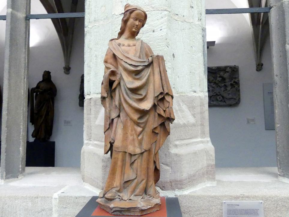 Meister der Nürnberger Tonapostel: Gekrönte Heilige, um 1420