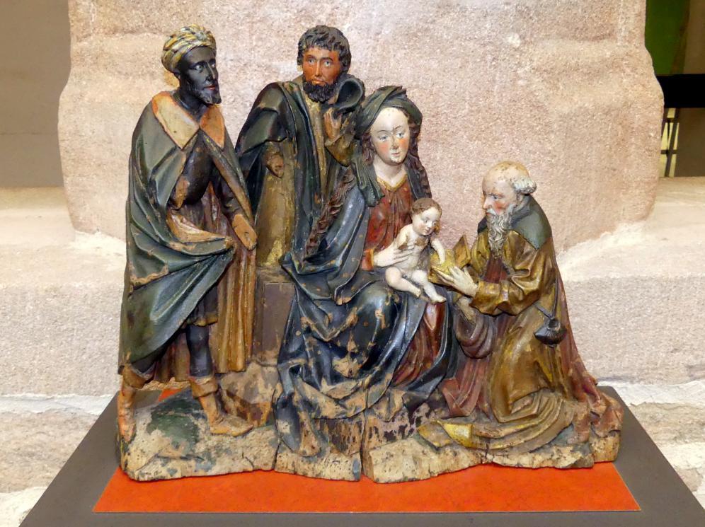 Meister der Spalter Madonna: Anbetung der Heiligen Drei Könige, um 1480 - 1485