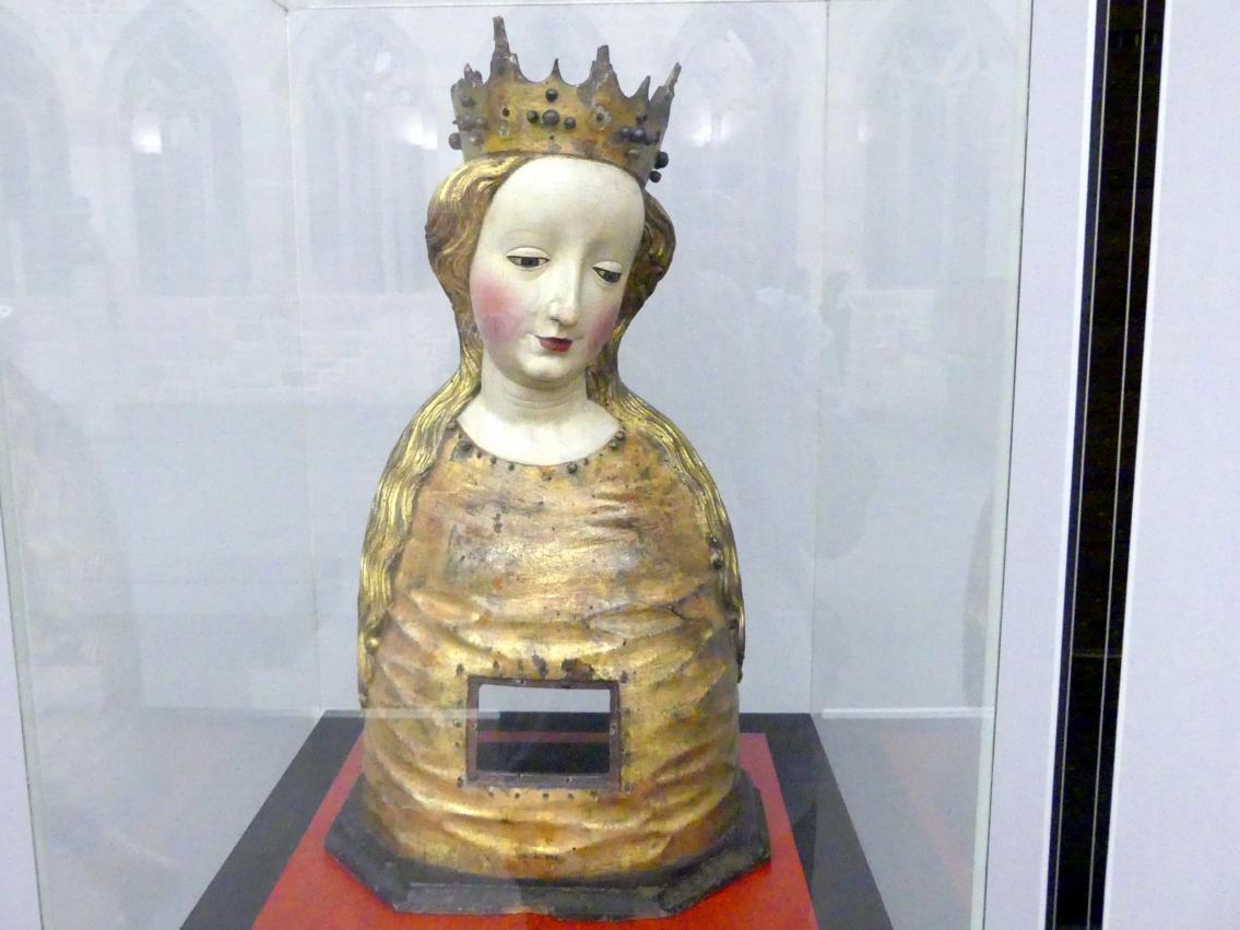 Reliquienbüste einer Heiligen, um 1440