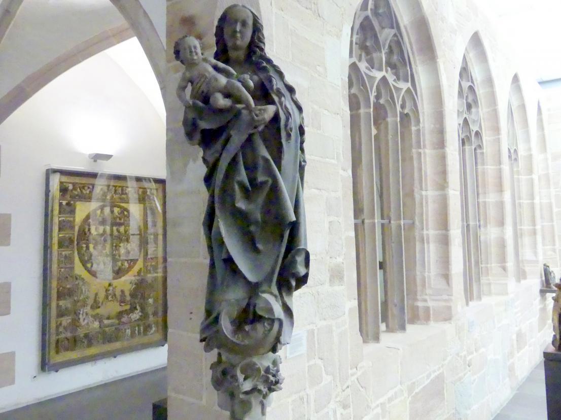 Veit Stoß: Madonna vom Hause Weinmarkt 12 in Nürnberg, um 1500