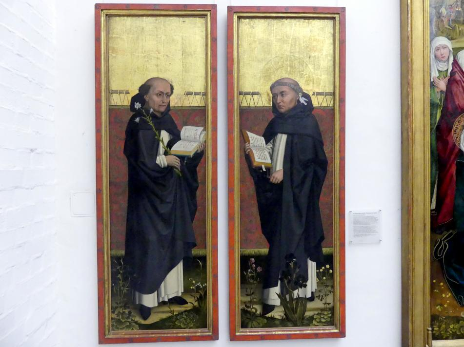 Hans Pleydenwurff: Hl. Dominikus und hl. Thomas von Aquin, Um 1460 - 1465