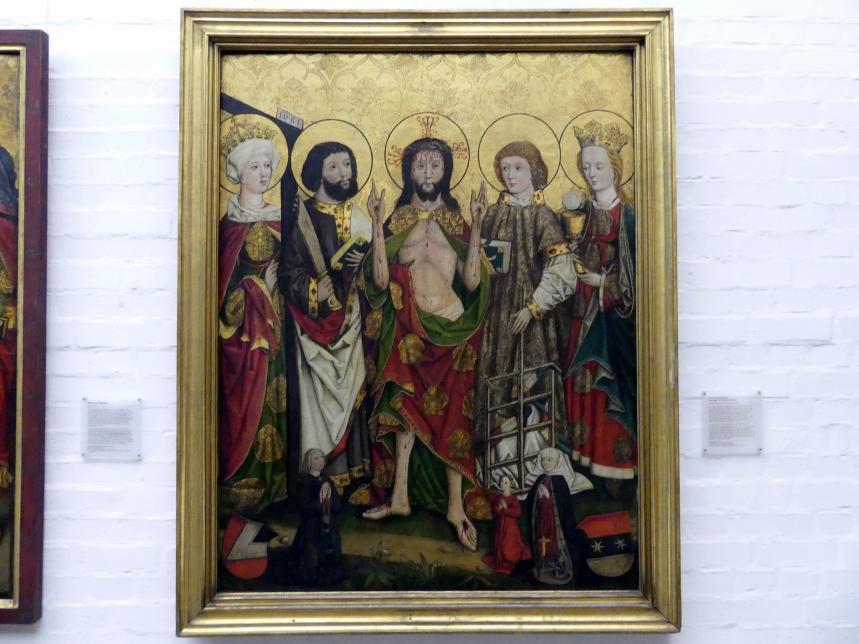 Epitaph der Ursula Haller: Christus als Schmerzensmann mit Heiligen, nach 1482