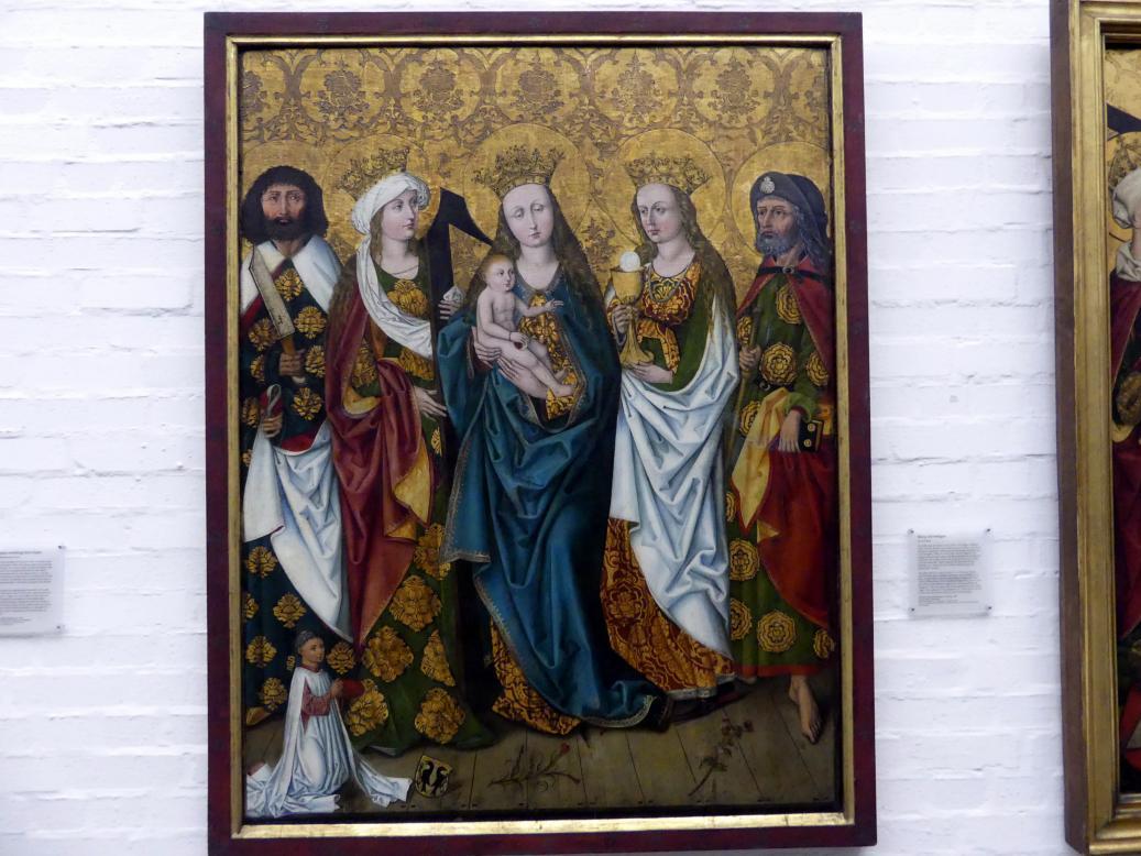 Michael Wolgemut (Werkstatt): Epitaph des Magisters Jodokus Krell: Maria mit dem Kind und Heiligen, 1483