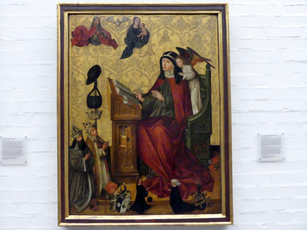 Meister des Landauer Altares: Die Hl. Birgitta empfängt ihre Vision, 1483