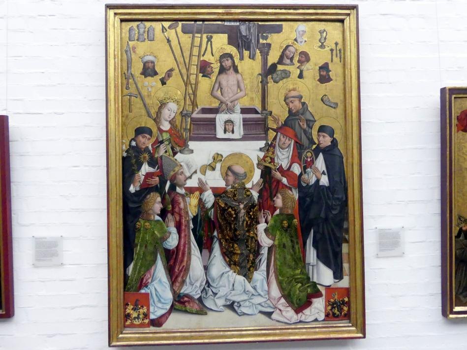 Meister des Augustiner-Altars: Die Messe des hl. Gregor, um 1500
