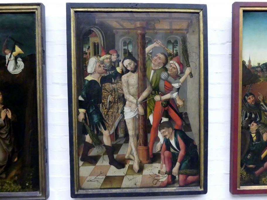 Meister des Angst-Altars: Geißelung Christi, um 1490