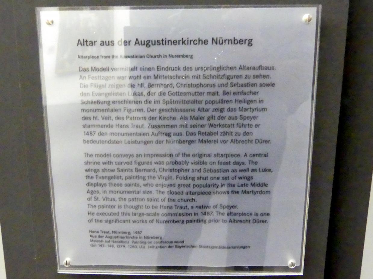 Meister des Augustiner-Altars: Altar aus der Augustinerkirche Nürnberg, 1487, Bild 3/3