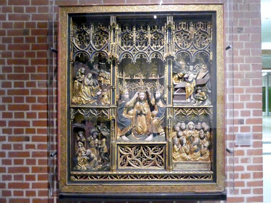 Altarschrein mit Marienkrönung, Um 1460